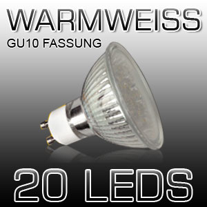 EAXUS-Energie-Sparlampe-Strahler-Spot-20-LED-fuer-GU10-Fassungen-230-V-NEU-OVP