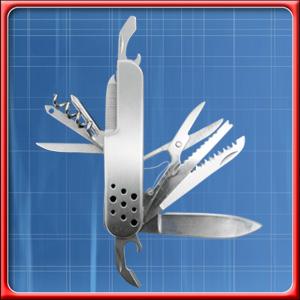 Mammut-Silver-Offiziersmesser-Taschenmesser-mit-13-Funktionen-aus-Edelstahl
