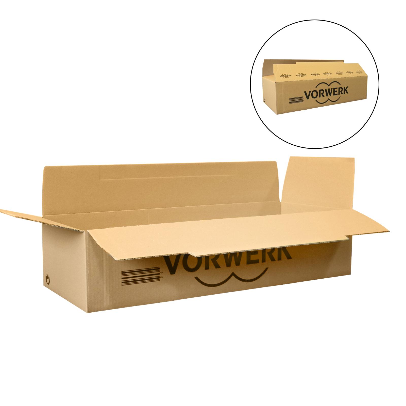 1xPalette mit 300 Verpackungs- / Falt- / Versandkartons 70x23,5x17cm mit Werbung