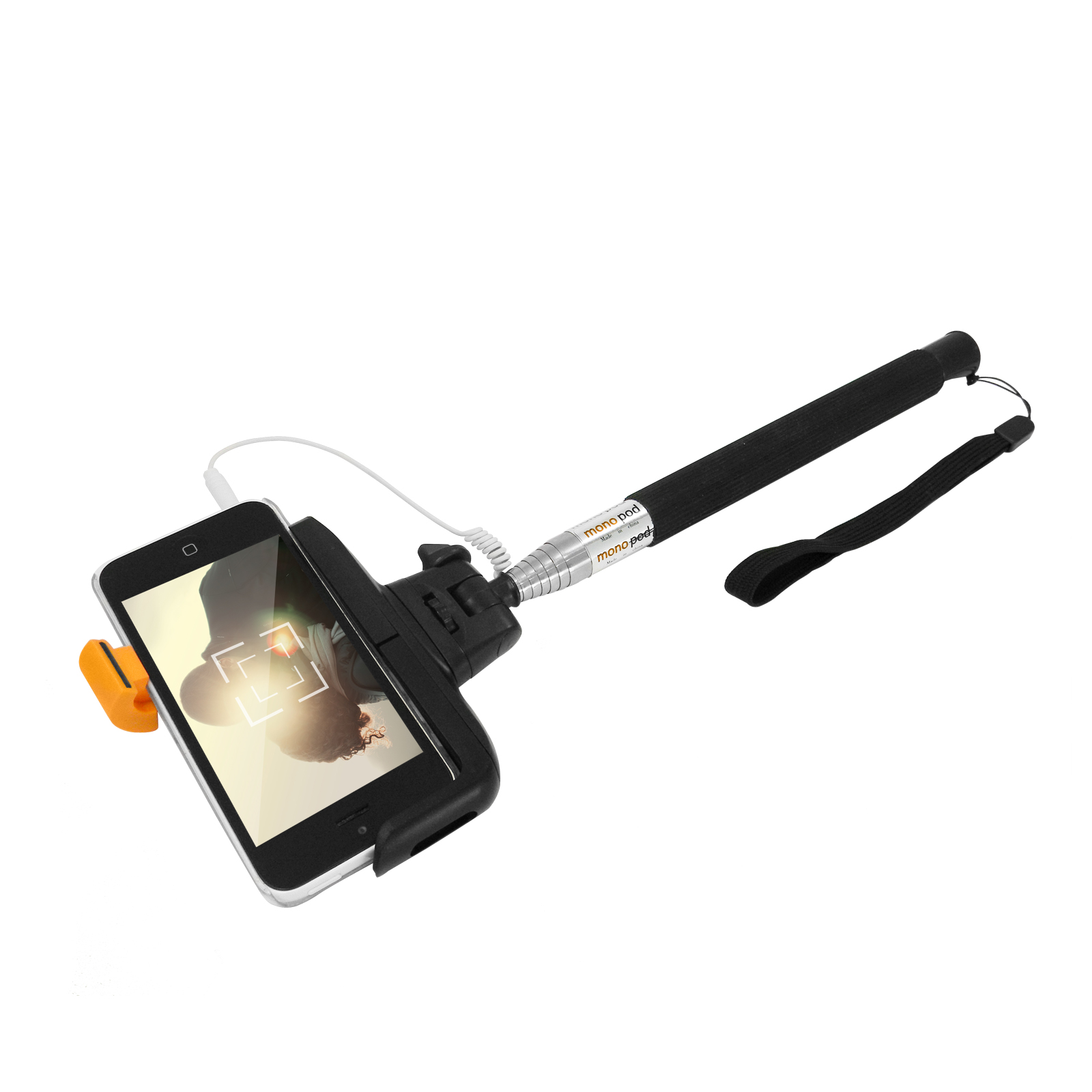 selfie stick monopod teleskop stange stativ smartphone iphone ios android eaxus ebay. Black Bedroom Furniture Sets. Home Design Ideas