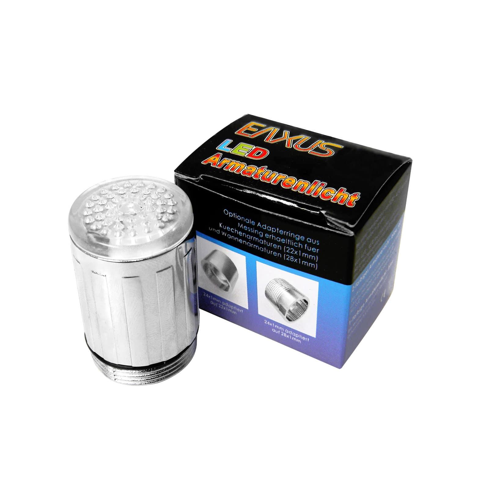 Led aufsatz fur wasserhahn adapter wasserhahn lampe rot for Amatur küche