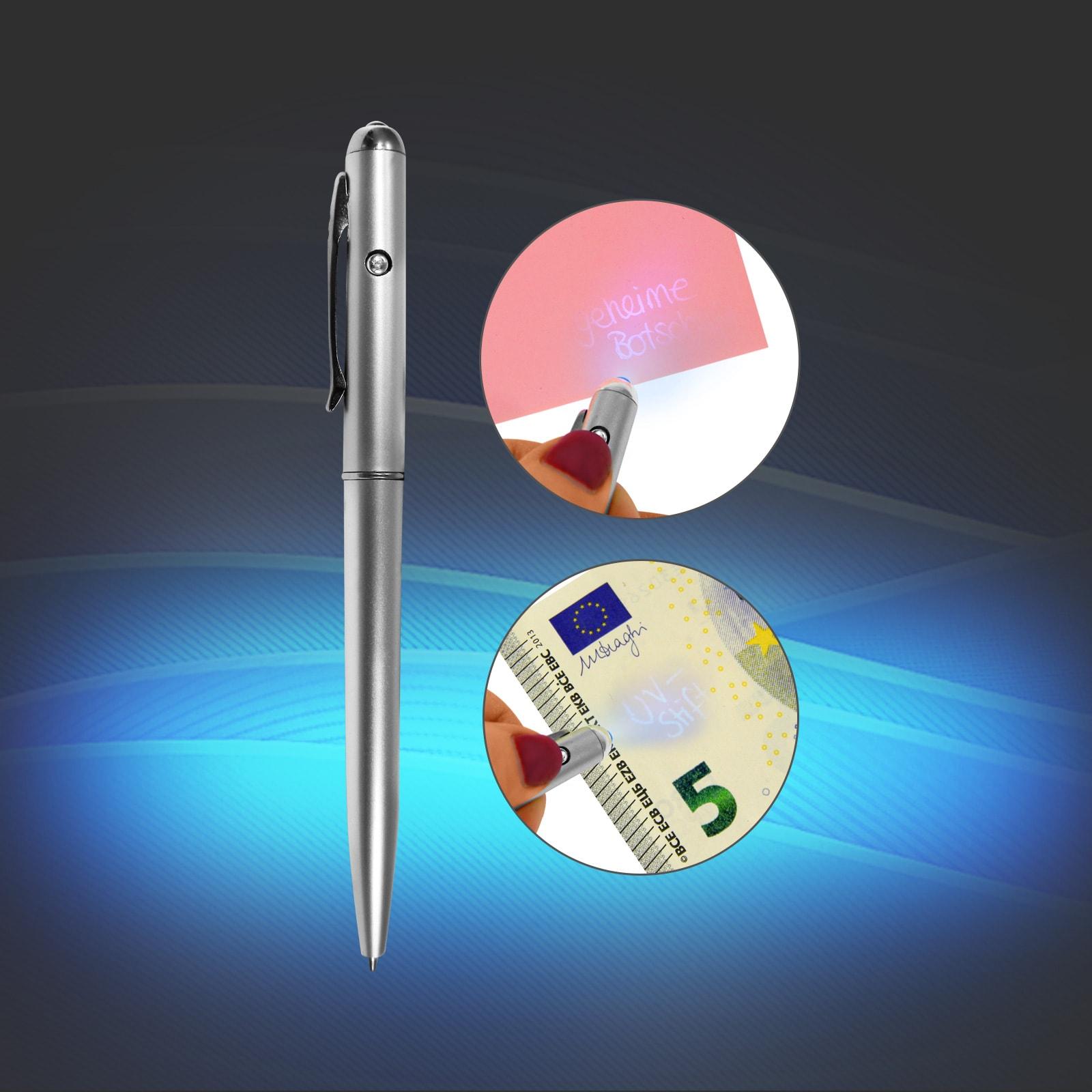 Geldscheinprüfer / UV Geheimstift mit unsichtbarer Tinte, UVP:9,99 EAXUS