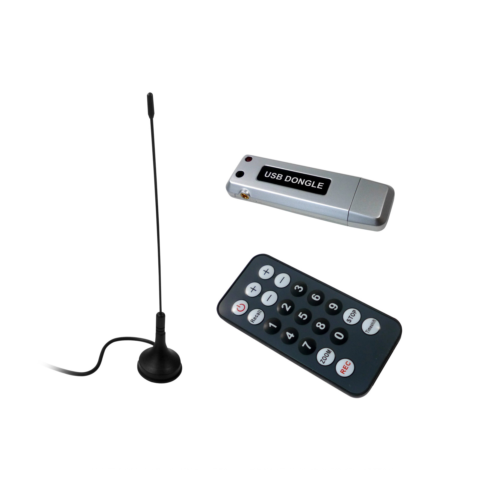 PC USB DVB-T<br> Receiver with<br> Antenna + Remote ...