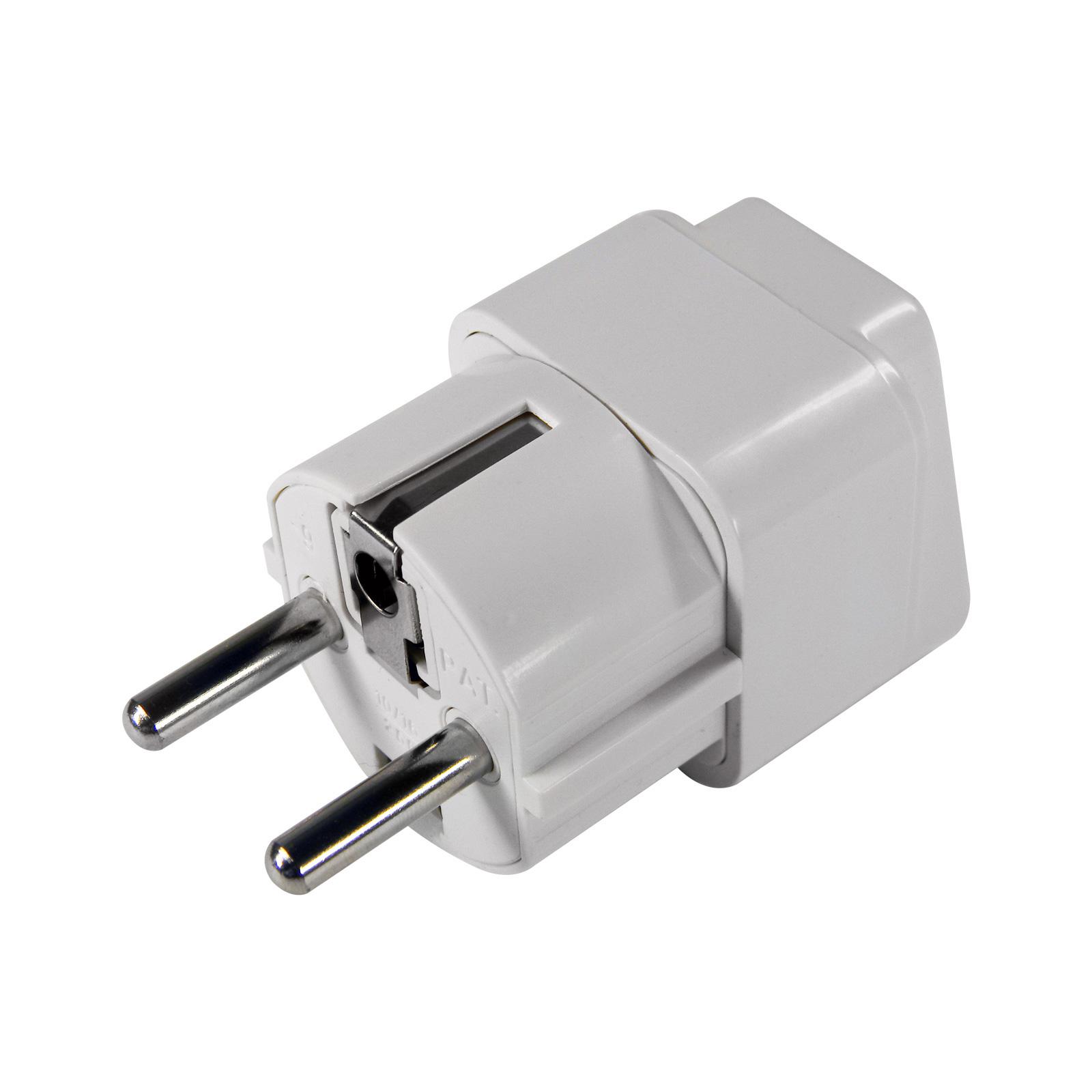 eaxus universal adapter reisestecker wei eu norm usa uk auf eu stecker neu ebay. Black Bedroom Furniture Sets. Home Design Ideas