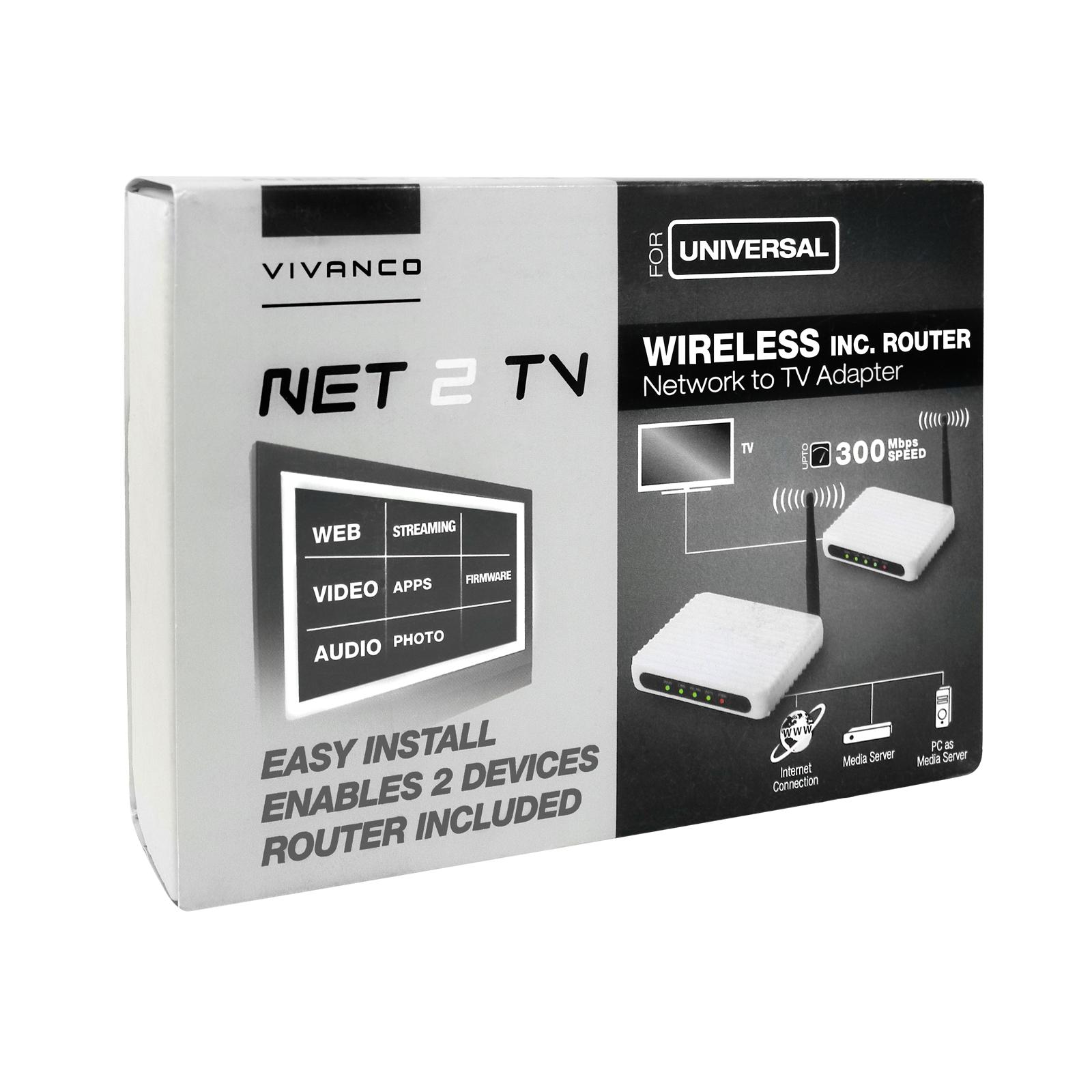 tv zu netzwerk adapter universal set netzwerkadapter n router bazoo trade4less. Black Bedroom Furniture Sets. Home Design Ideas