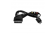 PS1, PS2, PS3 RGB Scart Kabel mit Audio und Video Out Eaxus