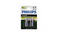 Philips Batterie Longlife R03 Micro AAA 4 Stück 1,5V Zink Kohle