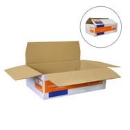 1 Palette mit 200 60x40x20cm Versandkartons zum Falten, Verpacken mit Werbung