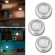 Universal LED Touch Light 3er Pack Schrankleuchten mit je 4 LEDs Eaxus