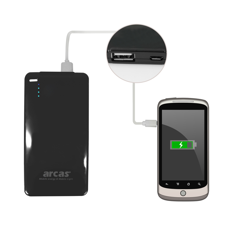 usb power bank mobiler akku v23 f r unterwegs 2600mah arcas ohne verpackung trade4less. Black Bedroom Furniture Sets. Home Design Ideas