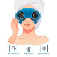 Massagebrille mit Vibration, Augenmassiermaske für Wellness und Entspannung