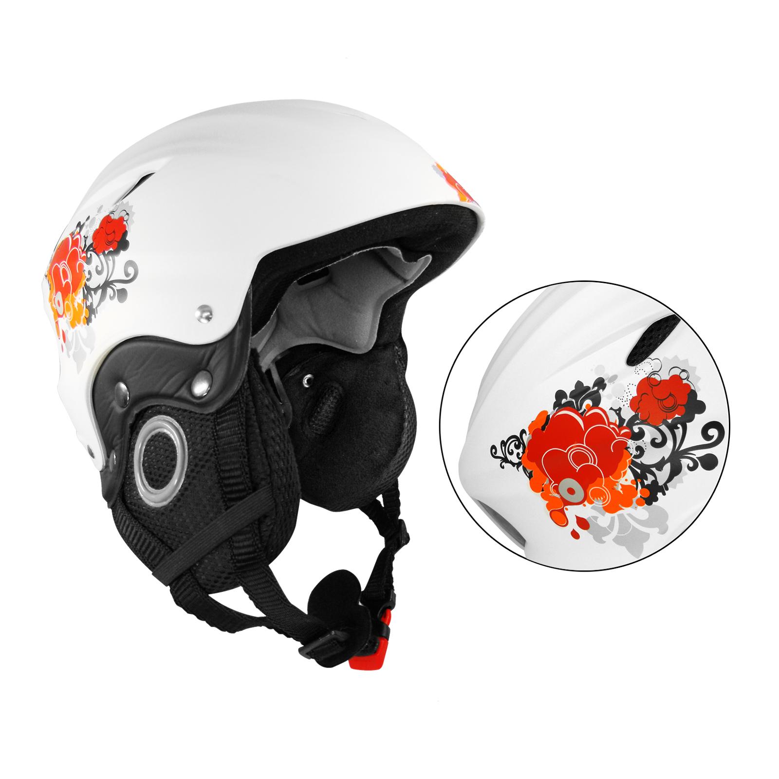 Ski / Snowboard Helm XS  stoßdämpfendes EPS-Innenmaterial, weiß SUMMIT