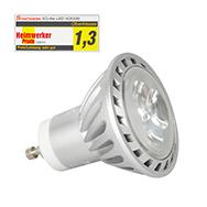 GU10 Spot mit 3 LEDs, Reflektor mit warmweißem Licht, dimmbar, XQ-lite