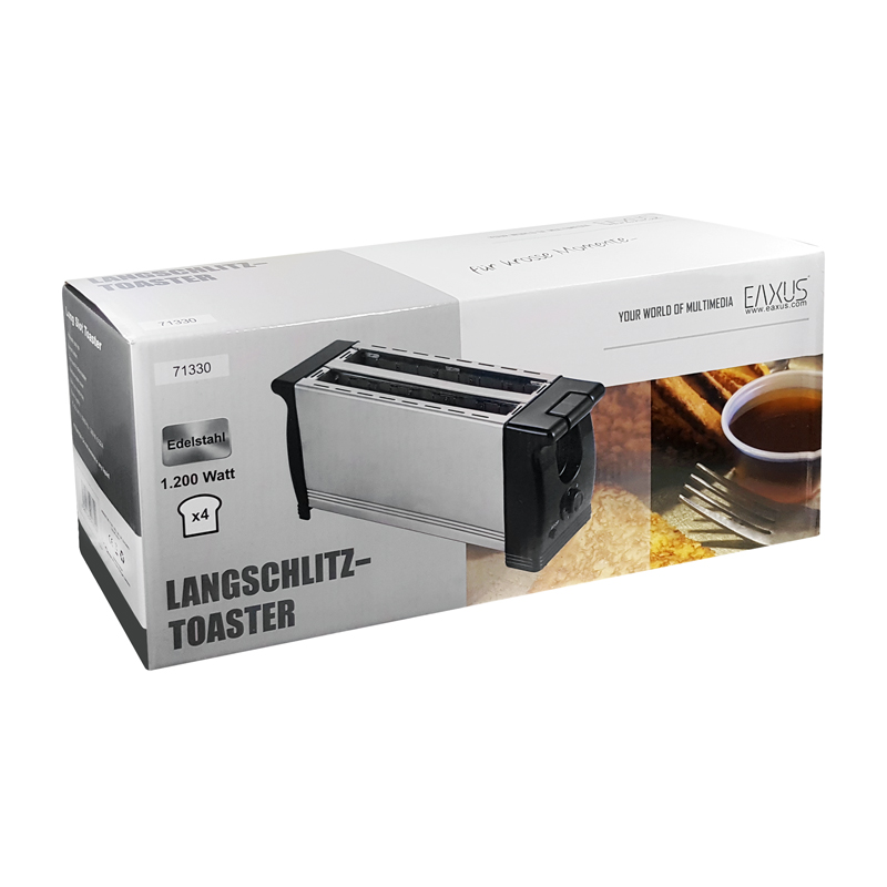 1200 watt toaster 4 scheiben brot toast langschlitz edelstahl kr melfach eaxus ebay. Black Bedroom Furniture Sets. Home Design Ideas