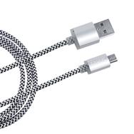 Daten-Ladekabel 1m silbern f. MicroUSB Smartphone u. PS4 Anti-Bruch Eaxus
