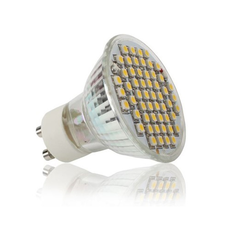 GU10 LED Lampe mit 54SMD warmweiß 2800K 300LM 3W ECD Germany