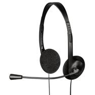 PC On Ear Stereo Headset HE-100, flexibel, 3,5mm Klinkenstecker Exxter by Hama