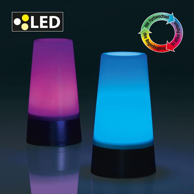 2er set led lampe stimmungslicht farbwechsel 7 farben. Black Bedroom Furniture Sets. Home Design Ideas