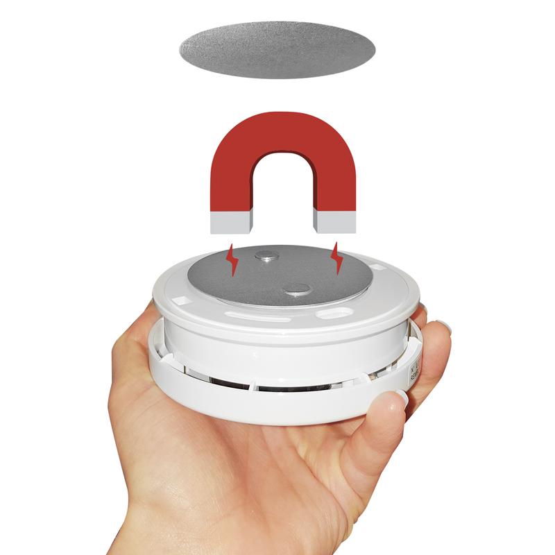 universal magnethalterung befestigung wandhalterung f rauch und feuermelder. Black Bedroom Furniture Sets. Home Design Ideas