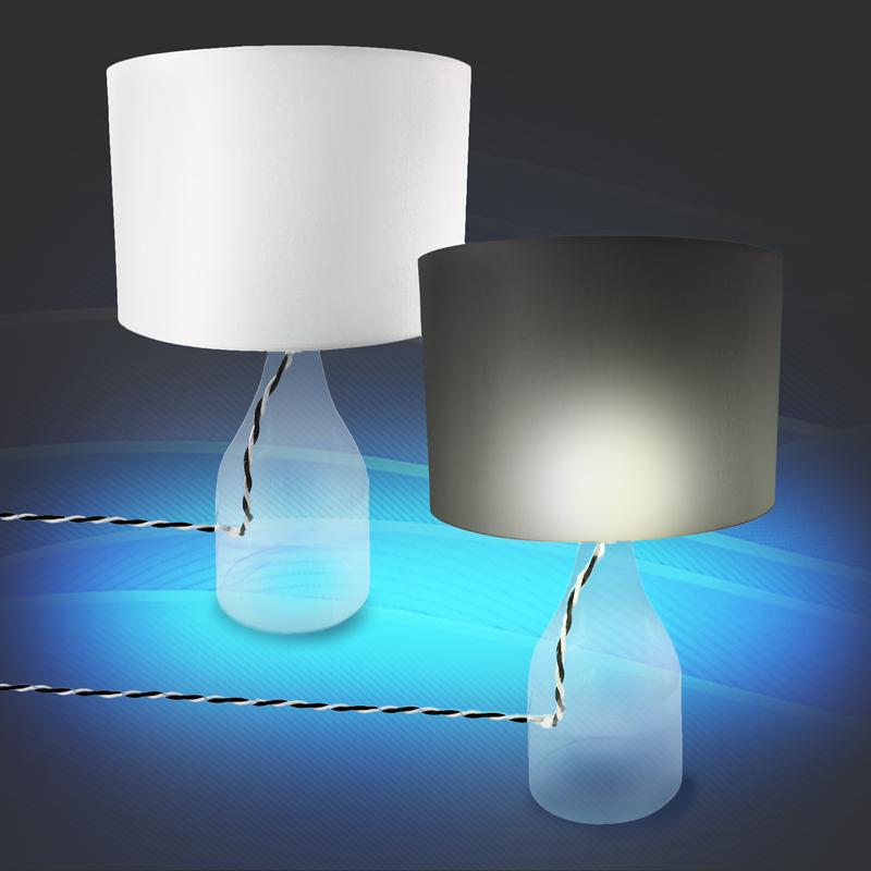 tischlampe tischleuchte hanna mit schirm glas lampe licht e27 40 watt kenwell ebay. Black Bedroom Furniture Sets. Home Design Ideas
