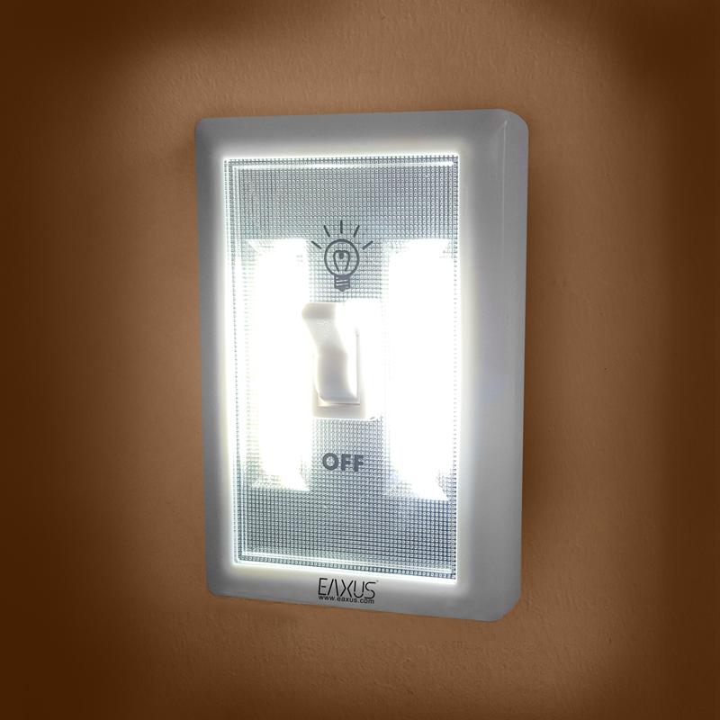 cob led wandlicht mit schalter nachtbeleuchtung mit haken und magnet eaxus. Black Bedroom Furniture Sets. Home Design Ideas