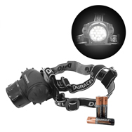 Duracell 19 LEDs Stirnlampe Explorer HDL-1 inkl. 3x AAA, 27 lm