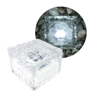LED Solar Glaswürfel mit Dämmerungssensor für den Garten, Terrasse, Pool Eaxus