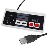 Retro USB Controller im NES Classic Mini Design für den PC, kabelgebunden Eaxus