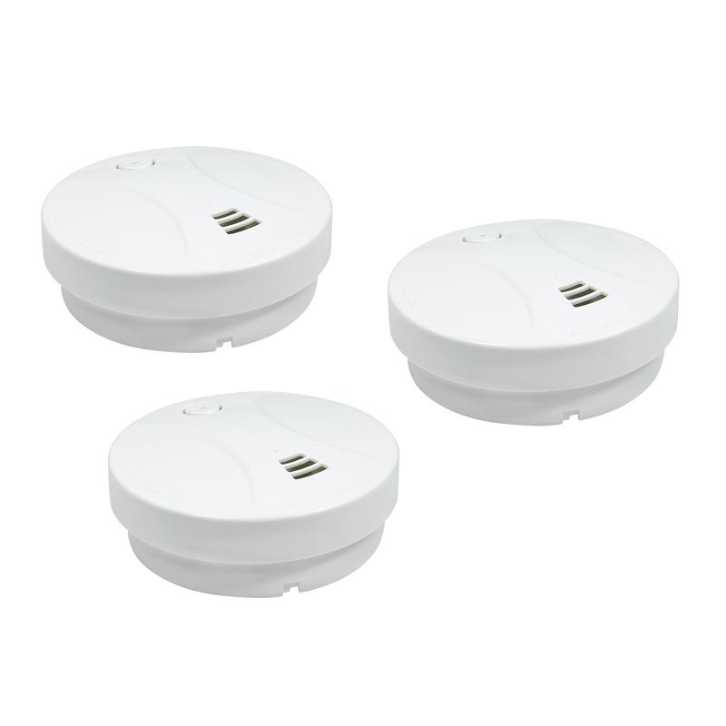 3x rauchmelder feuerschutz sicherheit alarm. Black Bedroom Furniture Sets. Home Design Ideas