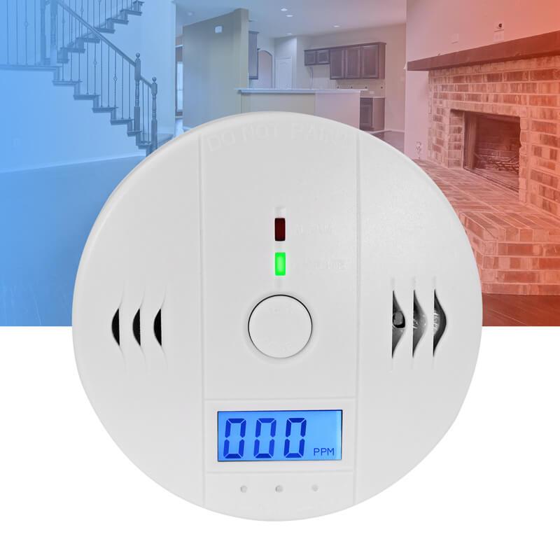 Kohlenmonoxid Melder 85 dB Alarm CO Gasmelder Gaswarner LCD Display DIN EN 50291