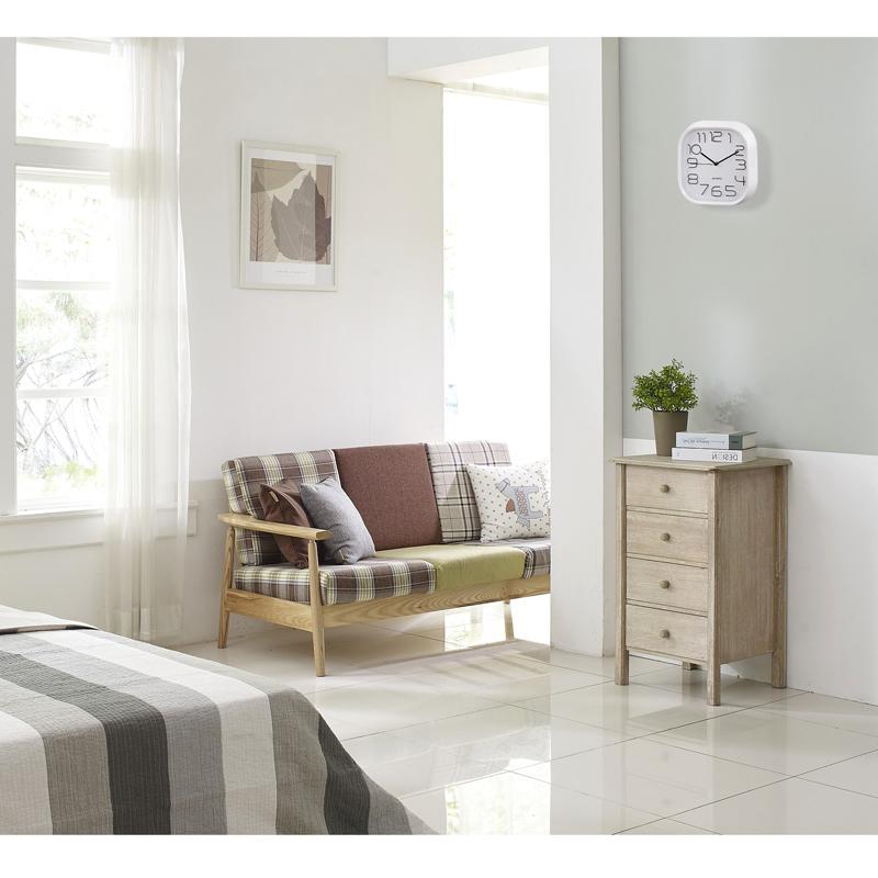 hama wei e wanduhr pg 280 quarz analog ger uscharm 28cm. Black Bedroom Furniture Sets. Home Design Ideas