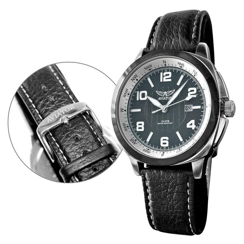 herren geschenkset armbanduhr mit 2 b ndern kompass. Black Bedroom Furniture Sets. Home Design Ideas