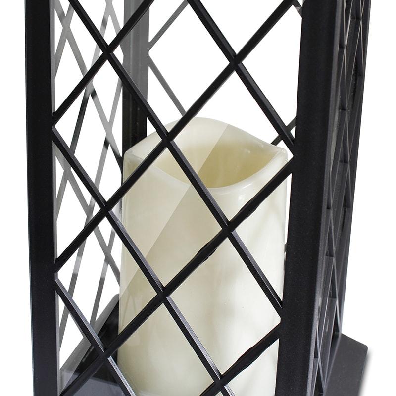 romantische laterne mit led kerze warmes licht drehbarer aufh nge ring eaxus trade4less. Black Bedroom Furniture Sets. Home Design Ideas
