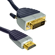 Premium High Speed HDMI zu DVI Kabel, 2m digitales Full HD Videokabel Bandridge