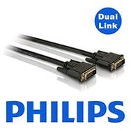 Philips 1,8m DVI Dual Link Monitor Kabel SWX2131 mit vergoldeten Steckern