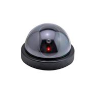 Überwachungskamera Attrappe in Kuppelform mit roter LED, täuschend echt Eaxus