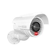 Solar Überwachungskamera Attrappe, CCTV Security mit LED Anzeige Eaxus