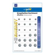 Knopfzellen 24 Stk. LR621, LR41, LR626, LR1130, LR44 Batterien Heitech