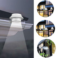 LED Solar-Dachrinnenleuchte kaltweiß inkl. Akku und Montagematerial