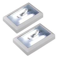 2x COB LED Wandlicht mit Schalter, Nachtbeleuchtung mit Haken und Magnet Eaxus