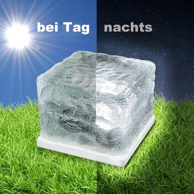 4er set solar led glasw rfel gartenlichter lampe leuchte d mmerungssensor eaxus ebay. Black Bedroom Furniture Sets. Home Design Ideas
