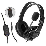 Stereo Gaming Headset für PS4 und Computer, kabelgebunden mit 3,5mm Klinke Eaxus