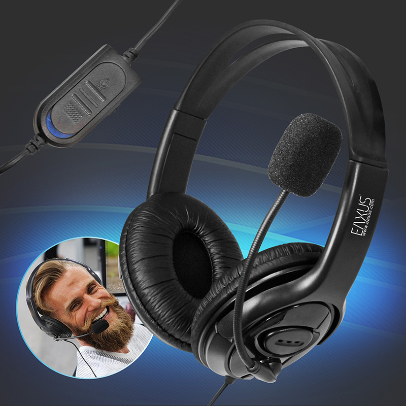 Stereo Gaming Headset for PS4 and Computer Wired with 3 5mm