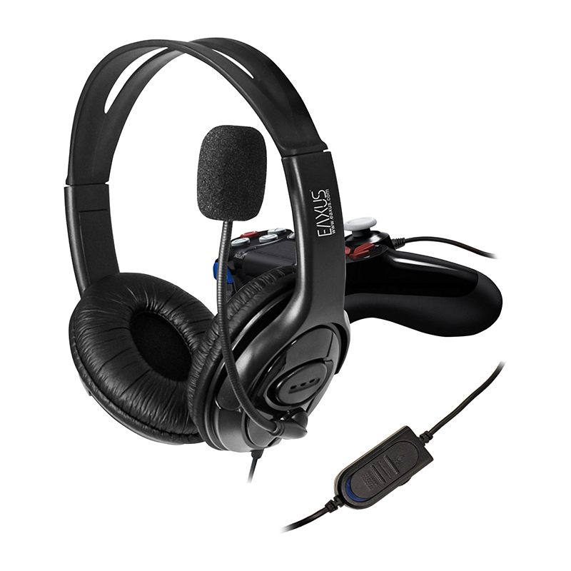 stereo gaming headset f r ps4 und computer kabelgebunden. Black Bedroom Furniture Sets. Home Design Ideas