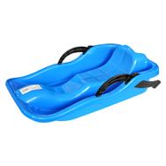 Bob Kinder Schlitten in Blau mit Bremsen, aus Kunststoff zum Rodeln, Eaxus