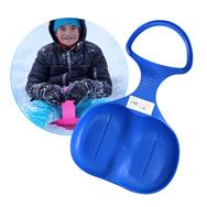 Kinder Schlitten Rutschteller blau zum Rodeln im Schnee, winterlicher Spaß Eaxus