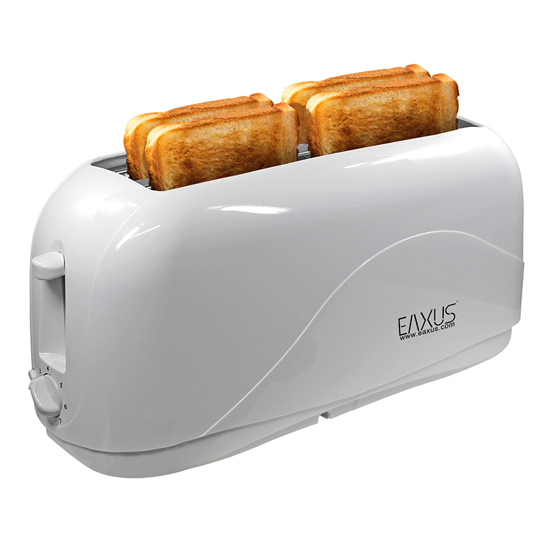 langschlitz toaster 4 scheiben cool touch geh use 1300w kr melfach wei eaxus ebay. Black Bedroom Furniture Sets. Home Design Ideas