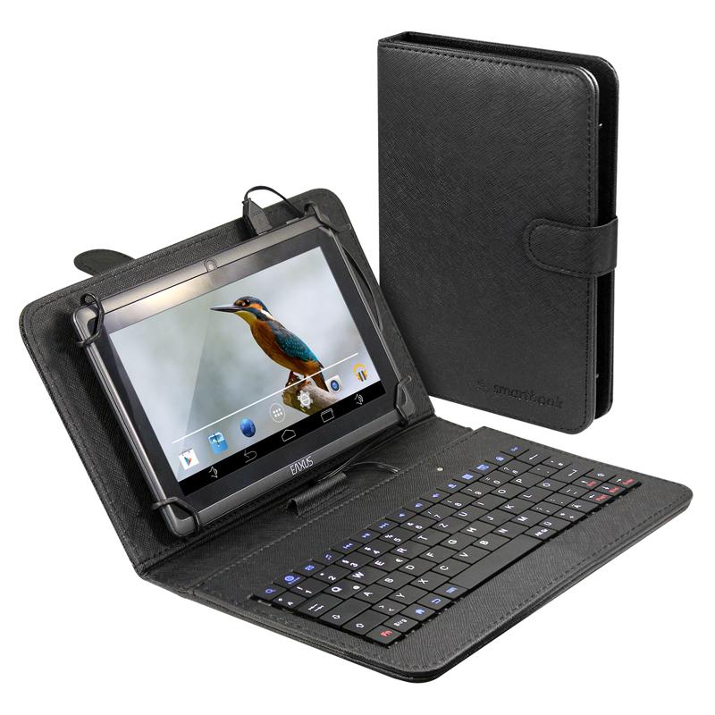 tablet schutzh lle tasche bis 20cm 7 8 tastatur qwertz microusb smartphone 4260183016632. Black Bedroom Furniture Sets. Home Design Ideas