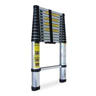 Teleskopleiter aus Alu, ausziehbar bis 3,8m, max. 150kg Belastbarkeit