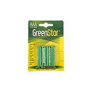 4er Pack AAA 1,5V R03 Batterien, extra stark und ohne Quecksilber, GreenStar
